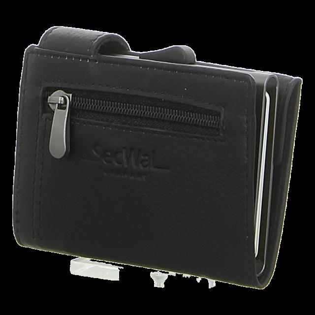 SecWal - SW1-01 SCHWARZ - Kartenetui mit Geldbeutel Rv - schwarz - Geldbörsen